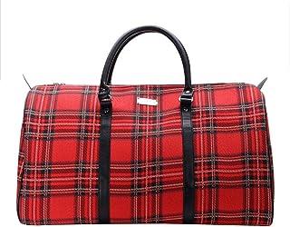 Red Royal Stewart Tartan Big Holdall by Signare/Ladies Trip Sports Travel Bag Hand Luggage Suitcase/BHOLD-RSTT