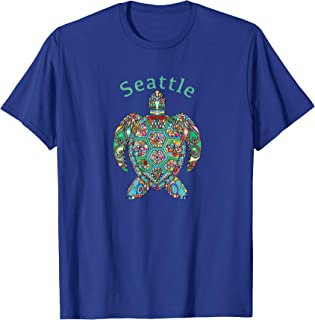 Seattle T-Shirt Tribal Turtle Gift T-Shirt