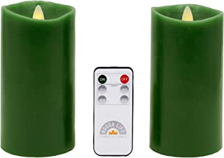 Gift Package 2 Pieces Sage Green Flameless Candles (D 3