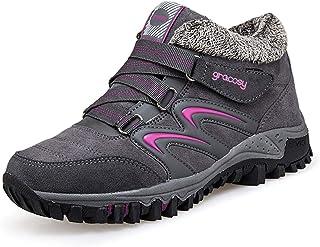 gracosy Mujer Botas de Nieve Senderismo Zapatos Antideslizantes Trekking Zapatos Invierno Piel de Forro Sneakers Transpira...