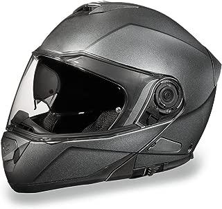 Daytona Helmets Motorcycle Modular Full Face Helmet Glide- Gun Metal Grey Metallic 100% DOT