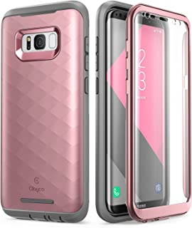 Samsung Galaxy S8 Plus Case, Clayco [Hera Series] Full-Body Rugged Case with Built-in Screen Protector for Samsung Galaxy S8 Plus (2017 Release) (Rosegold)