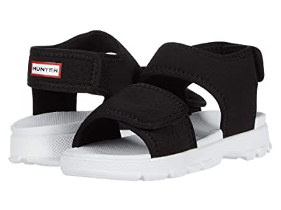 Hunter Kids Original Outdoor Sandal (Little Kid) (Black) Kid