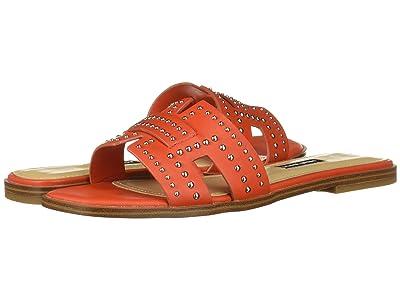 Nine West Genesia Studded Slide Sandal (Orange) Women