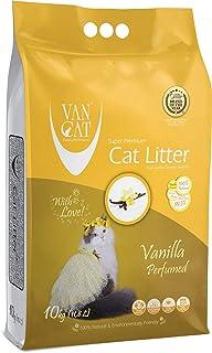 Vancat Vanilya Kokulu, Sarı Taneli Bentonite Kedi Kumu, 10 kg