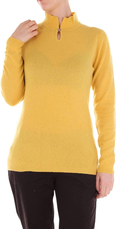 Biarritz 1961 Women's W3015YELLOW Yellow Cashmere Sweater