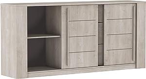Miroytengo Mueble aparador salón Comedor Puertas correderas cajones Push Armario diseño 206x94