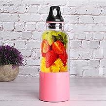 Centrífuga de suco de vegetais, ferramenta automática recarregável por USB, 500 ml, liquidificador portátil para suco, máq...