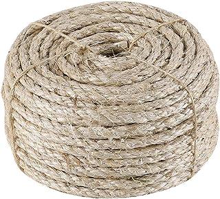 IZSUZEE Sisalseil für Kratzbaum, 7mm 30 Meter Seil, Natürliches Sisalseil, Geeignet für Gartendekoration, Katzenbaum, Katzen Zubehör, Naturfaser, MEHRWEG