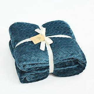 شفة اللون النقي بطانية جاكار المرجان المخملية بطانية غفوة غطاء تكييف الهواء بطانية Thejacquestisdarkgreen