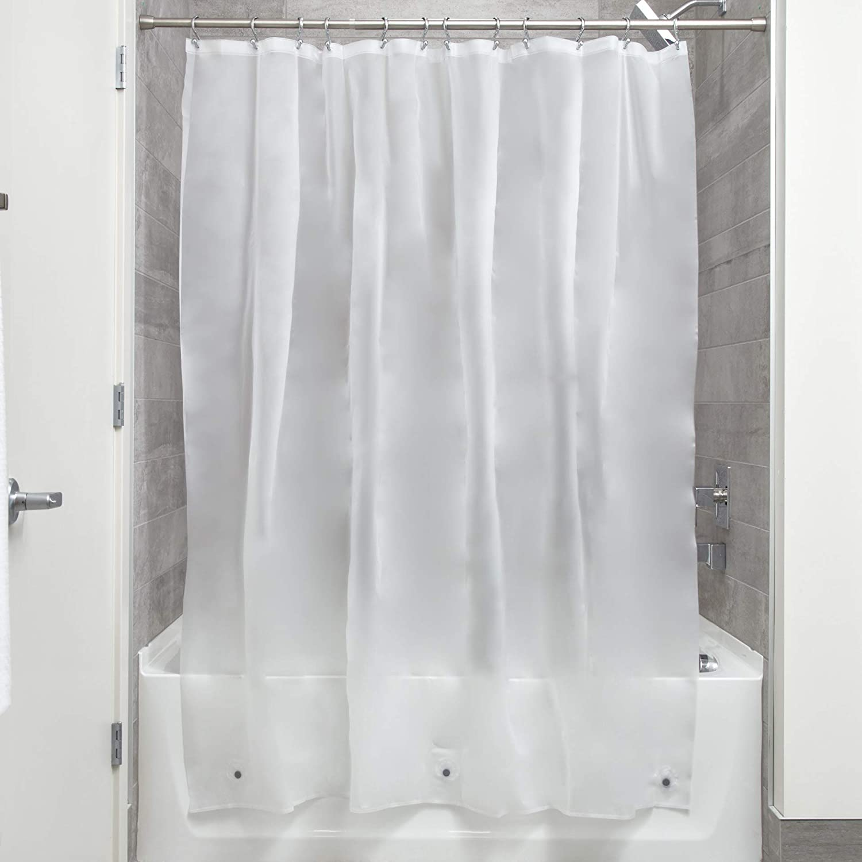 iDESIGN 14752 Shower Curtain Tucson Attention brand Mall Liner 72 W in L White EVA