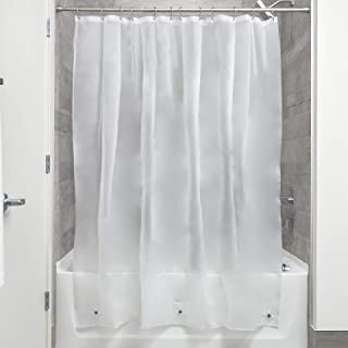 iDesign Vinyl Shower Liner, PVC-Free Mildew Resistant Curtain with Magnets for Master, Guest, Kids' Bathroom, Bathtub, 72