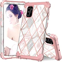 ZHK Galaxy Note 10 Plus Case, Marble 3 Layer Heavy Duty Shockproof Case Hard PC+Silicone Rubber Hybrid Sturdy Armor Full-Body Protective Case for Samsung Galaxy Note 10 Plus (2019)-Rose Gold