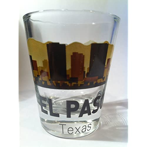 El Paso Texas Sunset Skyline Shot Glass