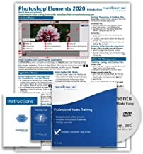 $39 » Learn Adobe Photoshop Elements 2020 DELUXE Training Tutorial Course- DVD-ROM, Online Access, Manual, Exam, Certificate of ...
