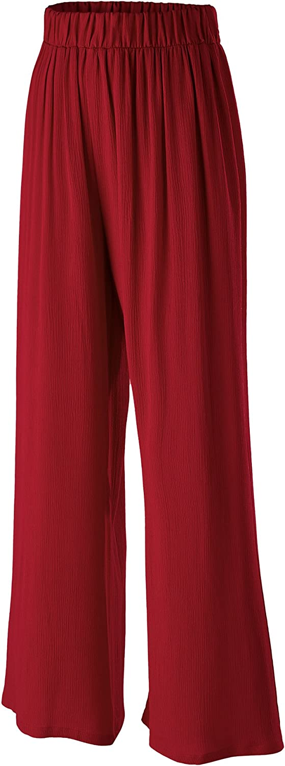 Made By Johnny WB1704 Womens Wide Leg Pants with PocketsMade in USA