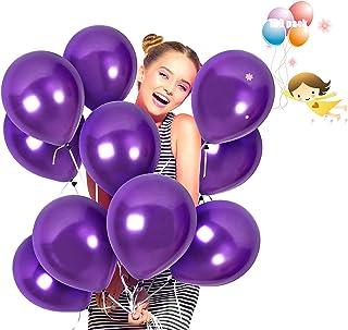 JIASHA 100 Pièces Ballons Anniversaire, Ballon Latex de pailleté Ballons Baudruche pour Mariage, Anniversaire, Baby Shower...