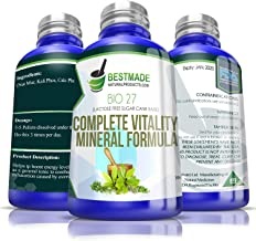 Complete Vitality Mineral Formula Bio 27, 300 pellets, Energy Booster Nerve Tonic and Anxiety Relief Remedy, Unique 5 Phos Synthesis, Natural Stress Relief, Combats Mineral Imbalances and Fatigue