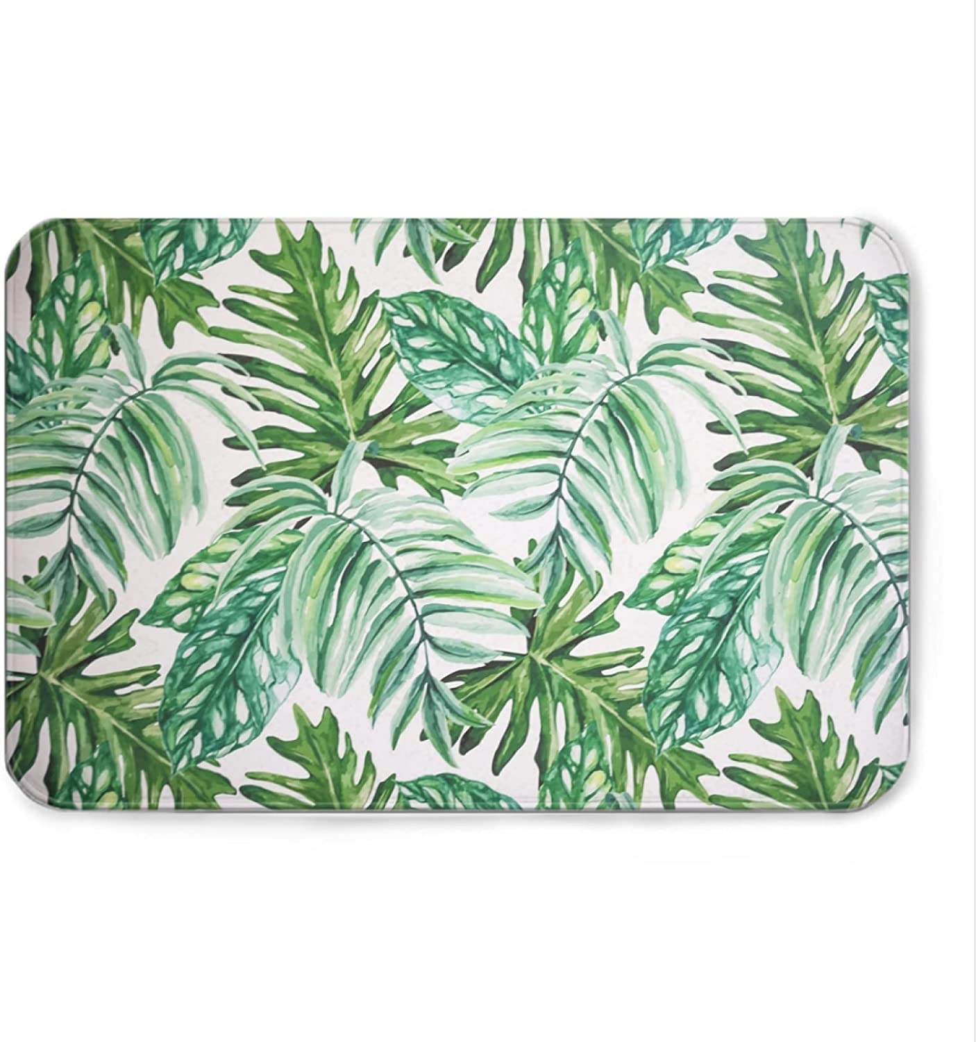 Green Palm Leaf Hawaiian Large discharge sale Style Welcome Mat Bath Non-Slip In stock Do Rugs