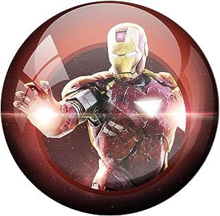 AVI Fridge Magnet with Red Colour Avengers Endgame s Iron Man 58mm Metal Regular Size 58mm MR8000371