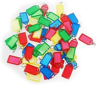 WINOMO Nyckelbrickor bagagelappar etiketter med nyckelringar (60 st slumpmässig färg)