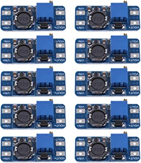 kesoto 10Pcs Dc-Dc Step Up Converter Booster (Mt3608) - Power Supply Module, Boost Step-Up Board - Max Output 28V 2A for Arduino