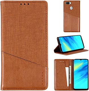 EUDTH Case for Realme 2 Pro, Full Body Protection Leather Case Flip Cards Slot Support Function Cover Shockproof Protectiv...