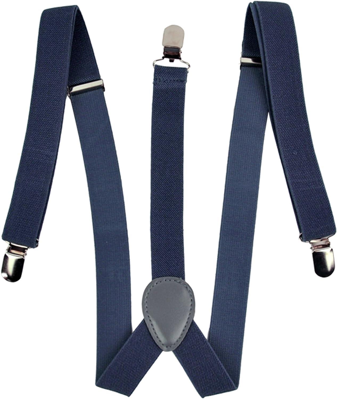 Zeagoo Men Women Clip-on Suspenders B Adjustable Price reduction Elastic Year-end annual account Y-Shape