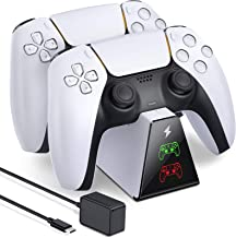 $21 » BEBONCOOL PS5 Controller Charging Station and Fast 5V/3A Adapter Compatible with Playstation 5 DualSense Controller, Durab...