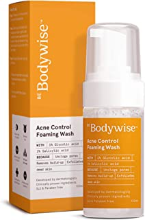 Bodywise Acne Control Foaming Wash | Salicylic Acid & Glycolic Acid | Helps reduce oiliness and combats acne |120 ml