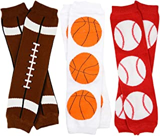Sporty 3 Pack of Baby and Toddler Leg Warmers for Boys by juDanzy