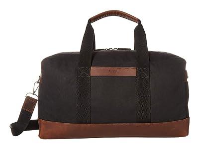 Shinola Detroit Mack Duffel Waxed Canvas/Navigator GM (Black) Handbags