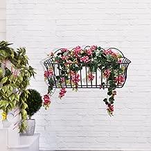 Home Sparkle Wall Hanging Flower Holder Mild Steel (Black)