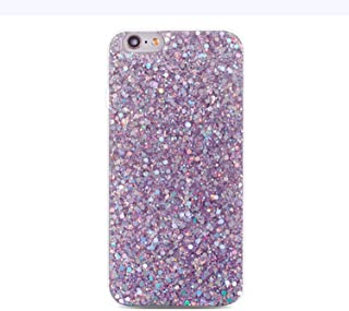 Silicone Bling Glitter Crystal Sequins Phone Case for Huawei P Smart P20 Pro P10 P8 P9 Lite 2017 Nova 2 2S 2i Honor 8 9 10 Cases,Purple,New 2S
