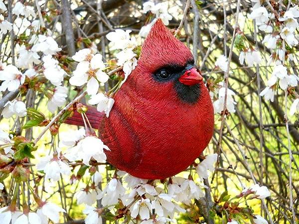 Large Resin Cardinal Bird Figurine