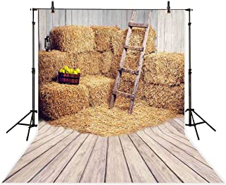 Allenjoy 5x7ft Farm Hay Photography Backdrop Background Old Fall Barn Decoration Photo Studio Photobooth Prop for Newborn Baby Shower Kids