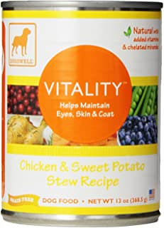 DOGSWELL Vitality Wet Dog Food with Vitamins & Essential Fatty Acids, 12 cans, 13 oz