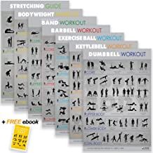 7 Exercise Workout Gym Posters - 30x20