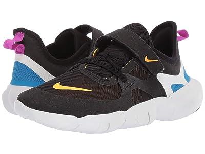 Nike Kids Free RN 5.0 (Little Kid) (Black/Laser Orange/Blue Hero) Kids Shoes