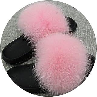 elephanted Shoes Women Slippers Fur Ladies Home Plush Slides House flip  Flops Indoor Furries Big Size 22bcc86b3dc4