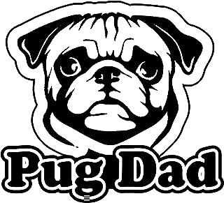 OwnTheAvenue Pug Dad Bumper Window Vinyl Decal Sticker Love My Rescue Dog 4