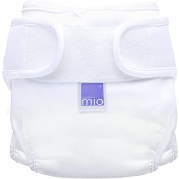Bambino Mio, mioduo Cloth Diaper Cover, White, Size 1 (<21lbs)