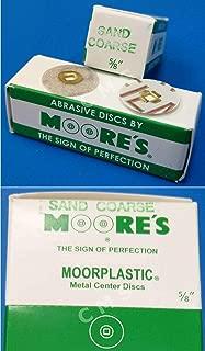 E.C. MOORE MOORE'S MOORPLASTIC Plastic Abrasive Sanding Discs Sand Coarse 5/8