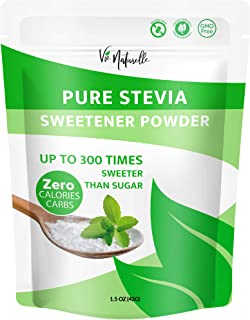 Pure Stevia Powder Extract Sweetener - Zero Calorie Sugar Substitute - Completely Free of Artificial Ingredients (1,500 Se...