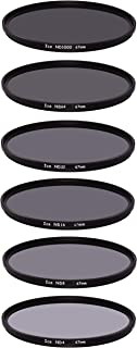 ICE 67mm 6 ND Filter Set Slim ND1000 ND64 ND32 ND16 ND8 ND4 Neutral Density 10, 6, 5, 4, 3, 2 Stop Optical Glass 67