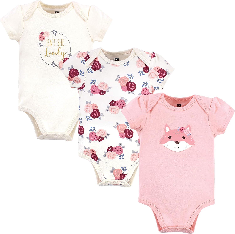 Hudson baby Baby-Girls Unisex Baby Cotton Bodysuits