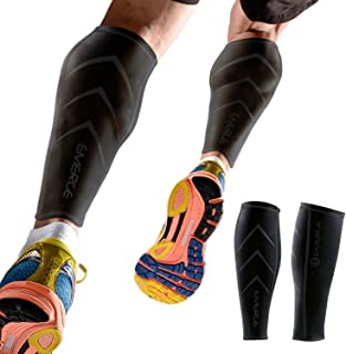 Emerge Calf Compression Sleeve by for Men & Women - Leg & Shin Splint Compression Sleeves for Runners, Shin Splints & Blood Circulation
