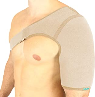 Vive Shoulder Brace - پشتیبان فشرده سازی روتاتور کاف - مردان ، زنان ، چپ ، راست بازو مانع از تثبیت کننده آستین بسته شدن تثبیت کننده بازدارنده - ایموبیلایزر برای اتصال مفاصل جابجایی ، درد پارگی لابروم (بژ ، تک)