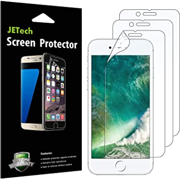 JETech Screen Protector for iPhone SE 2020, iPhone 8 and iPhone 7, PET Film, HD Clear, 3-Pack