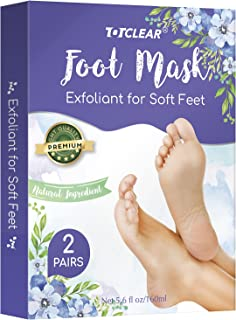 TOTCLEAR Exfoliating Foot Peel Mask for Softer, Smooth Feet- Gently Peel Away Calluses & Dead Skin, Repair Rough Heels, Ge...